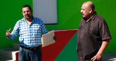Alcaldesa de Pachuca consigue acuerdo con COMEX para ampliar macromural Cubitos.