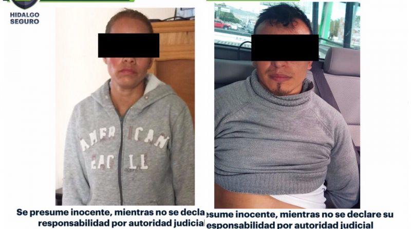 Aseguran Policía Estatal y Municipal de Tulancingo a dos presuntos secuestradores en Napateco