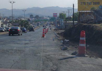 Reconstruye SOPOTH área de socavones en la bajada de San José