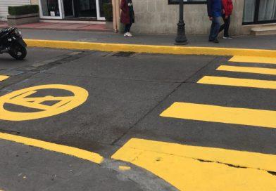 Avanza mejora de imagen urbana en primer cuadro de Tulancingo